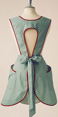 BellaPamella: Products: Stella Retro Apron in Scotch Green Fabric